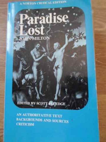 PARADISE LOST A NORTON CRITICAL EDITION                                                   ...