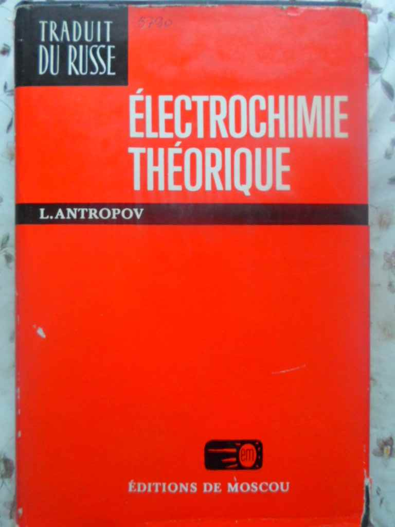 ELECTROCHIMIE THEORIQUE                                                                   ...