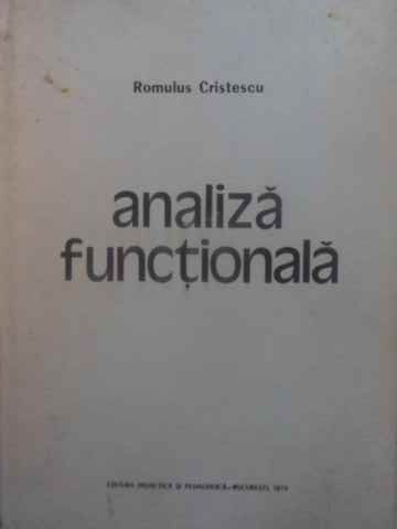 ANALIZA FUNCTIONALA                                                                       ...